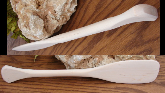 Miniature Canoe Paddle Hand Carved Birch Wood Amish Made, Moose-R-Us.Com Log Cabin Decor