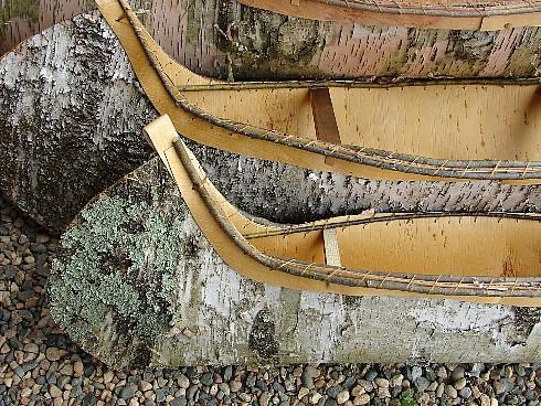 Birch Bark Canoe Authentic Native American Ojibwe Indian Birchbark Canoes, Moose-R-Us.Com Log Cabin Decor