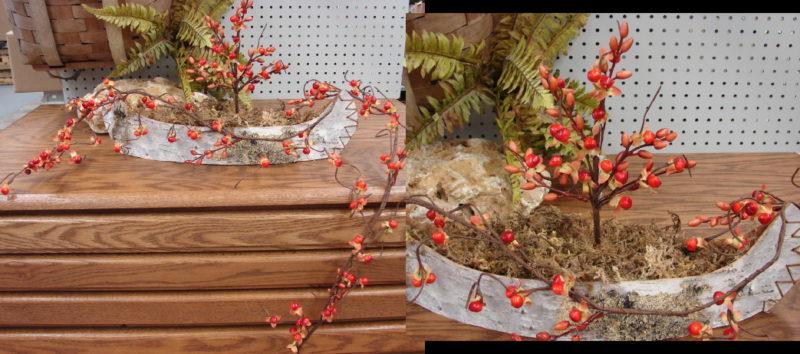 Realistic Bittersweet Pick 5 Foot Garland Autumn Decorating, Moose-R-Us.Com Log Cabin Decor