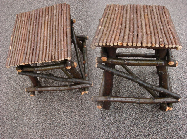 Willow Works Adirondack Twig Branch End Occasional Table, Moose-R-Us.Com Log Cabin Decor