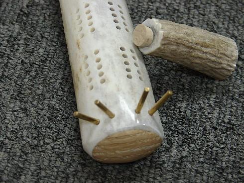 Real Carved Elk Deer Antler Cribbage Board Brass Pegs, Moose-R-Us.Com Log Cabin Decor