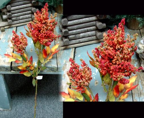 Realistic Silk Flame Seed Spray 34″ Pick Autumn Lodge Decor, Moose-R-Us.Com Log Cabin Decor