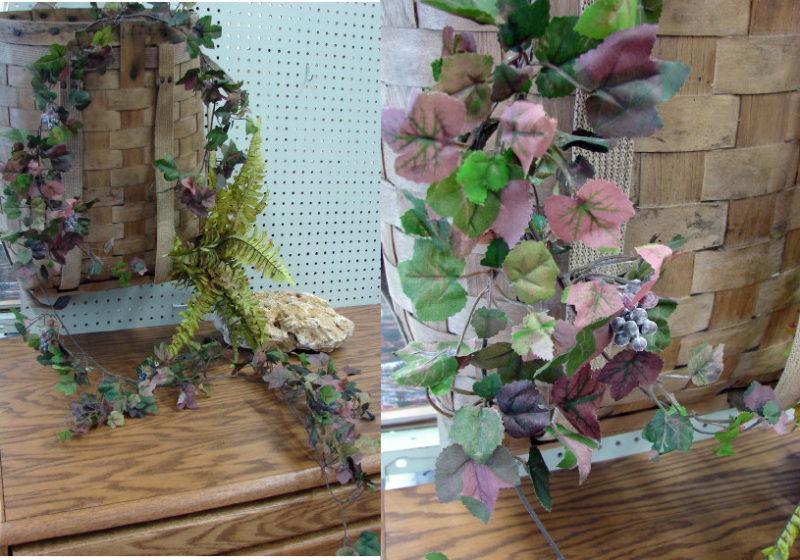 6 Foot Long Grapevine Leaf Garland Realistic Silk Vine with Grapes, Moose-R-Us.Com Log Cabin Decor
