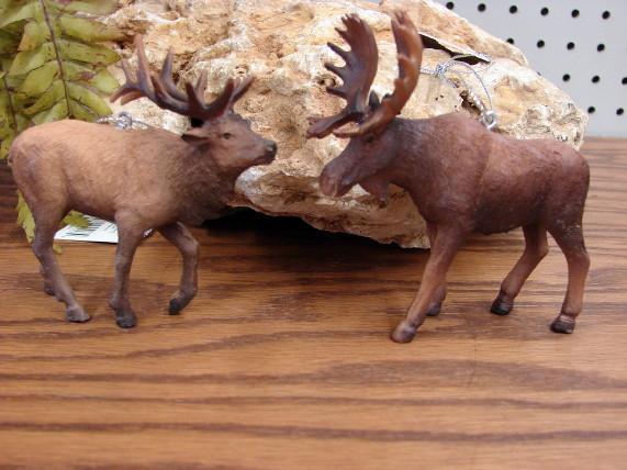 Midwest Detailed Big Game Moose or Elk Wildlife Themed Ornament, Moose-R-Us.Com Log Cabin Decor