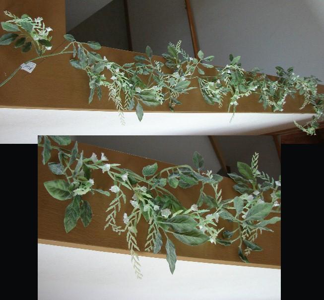 Romantic Drape Miniature Wisteria Garland White, Moose-R-Us.Com Log Cabin Decor
