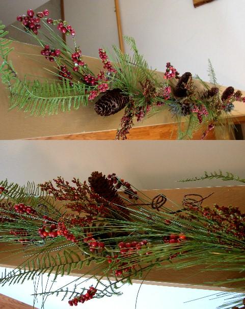Realistic Pine Fern Berry Pinecone Garland, Moose-R-Us.Com Log Cabin Decor