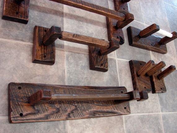 Wood Towel Bars Peg Racks Toilet Tissue Holders etc.