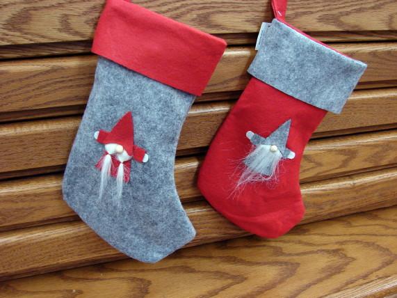 Scandinavian Gnome Christmas Stockings, Moose-R-Us.Com Log Cabin Decor