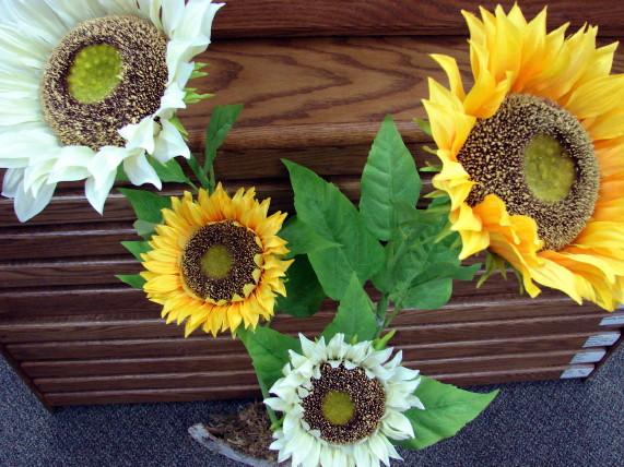 Realistic Artificial Life Size Sunflower Pick 30-40″, Moose-R-Us.Com Log Cabin Decor