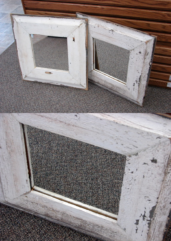 Authentic Antique Worn Cottage Beach House Frame Mirror Wall Decor, Moose-R-Us.Com Log Cabin Decor