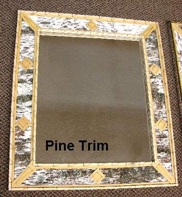 Authentic Birch Bark Adirondack Rectangular Mirror 28 x 16, Moose-R-Us.Com Log Cabin Decor