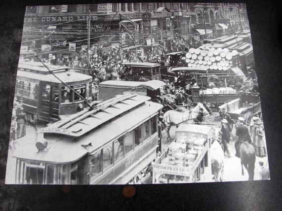 Vintage Black White Chicago 11×14 Dearborn Randolph Photo 1900's, Moose-R-Us.Com Log Cabin Decor