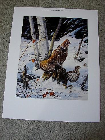 Doughty Cedar Swamp Refuge Ruffed Grouse Print, Moose-R-Us.Com Log Cabin Decor