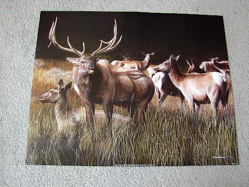 Kevin Daniel The Gathering Elk Print, Moose-R-Us.Com Log Cabin Decor