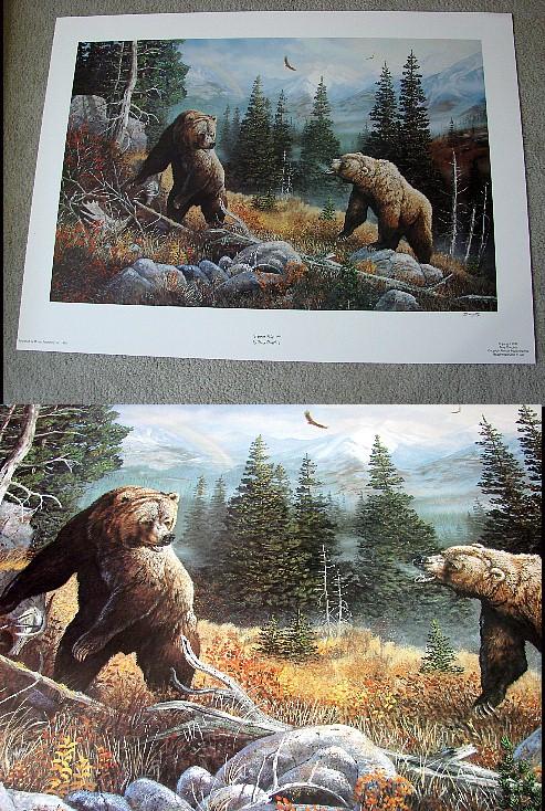 Doughty Winner Take All Grizzly Bear Print, Moose-R-Us.Com Log Cabin Decor