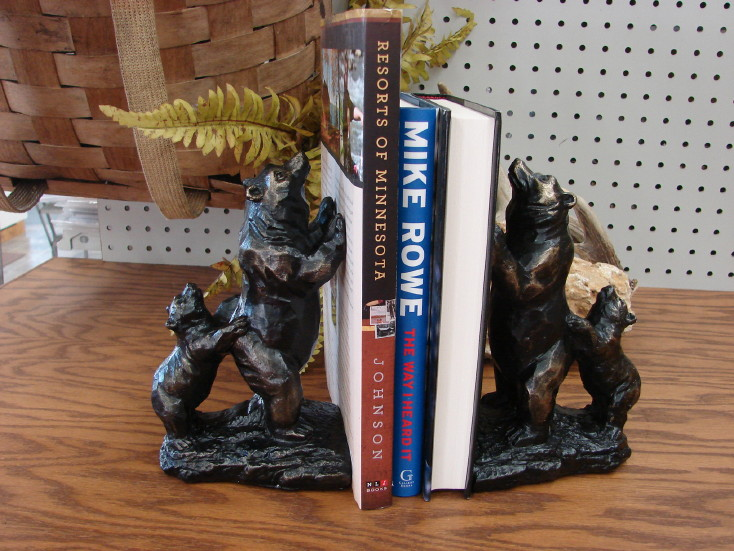 Detailed Standing Bear Bookends Bear and Cub, Moose-R-Us.Com Log Cabin Decor