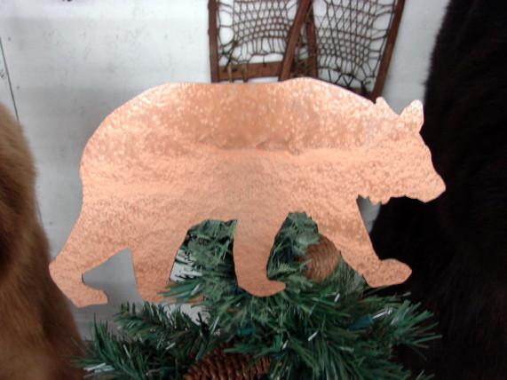 Northwoods Lodge Theme Moose Bear Silhouette Tree Topper, Moose-R-Us.Com Log Cabin Decor