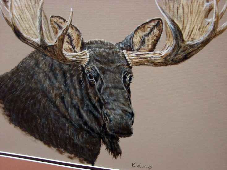 Award Winning Wildlife Artist Kurt Wolter Artwork Canvas Prints, Moose-R-Us.Com Log Cabin Decor